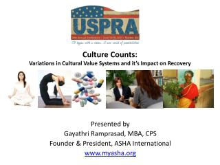 Culture Counts:  Variations in Cultural Value Systems and it's Impact on Recovery