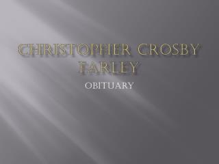 Christopher Crosby Farley