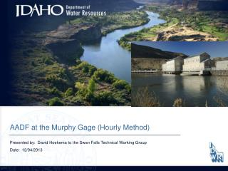 AADF at  the Murphy  Gage (Hourly Method)