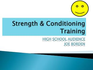 Strength & Conditioning Training