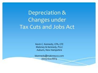Depreciation & Changes under Tax Cuts and Jobs Act