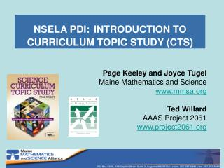 NSELA PDI: INTRODUCTION TO CURRICULUM TOPIC STUDY (CTS)