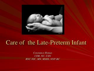 Care of  the Late-Preterm Infant