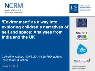 Catherine Walker, NOVELLA-linked PhD student, Institute of Education