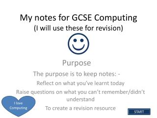My notes for  GCSE Computing (I will use these for revision)