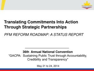 "36th  Annual National Convention ""GACPA:  Sustaining Public Trust through Accountability,"