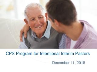 CPS Program for Intentional Interim Pastors