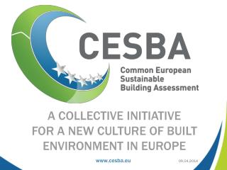 A Collective Initiative  for a New Culture of Built Environment in Europe