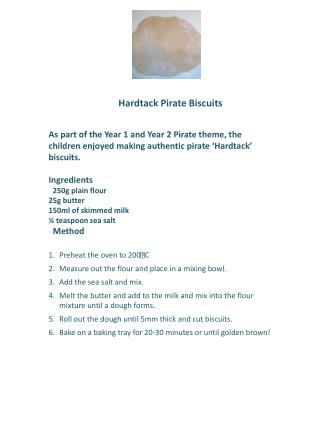 Hardtack Pirate Biscuits