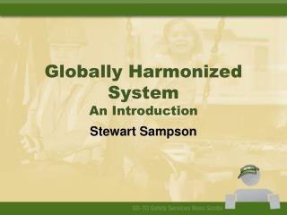 Globally Harmonized System An Introduction