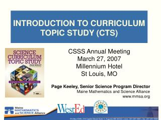 INTRODUCTION TO CURRICULUM TOPIC STUDY (CTS)