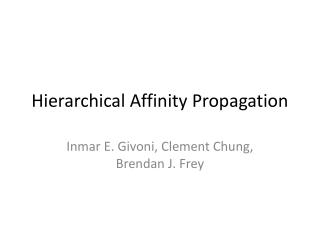 Hierarchical  Affinity  Propagation