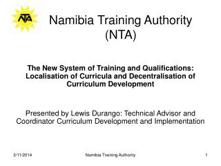 Namibia Training Authority (NTA)