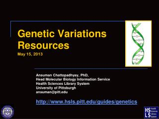 Genetic Variations  Resources May 15, 2013