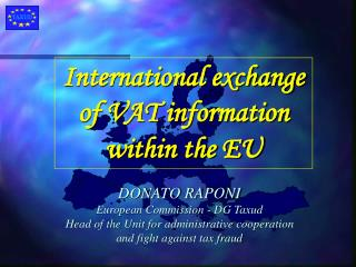International exchange of VAT information  within the EU