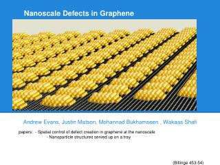 Nanoscale Defects in Graphene