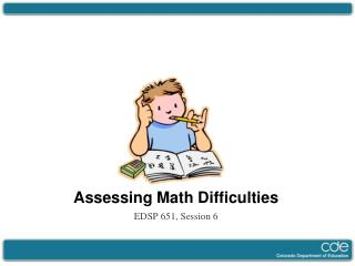Assessing Math Difficulties
