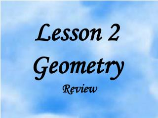 Lesson 2 Geometry