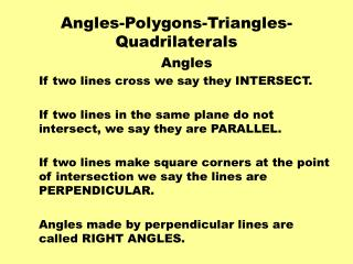 Angles-Polygons-Triangles-Quadrilaterals
