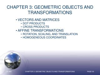 Chapter 3: Geometric Objects and Transformations