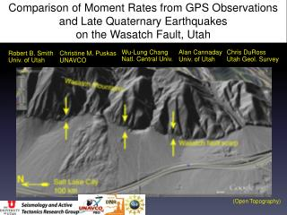 Comparison of Moment Rates from GPS Observations and Late Quaternary Earthquakes