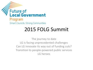 2015 FOLG Summit