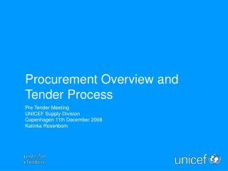 Procurement Overview and Tender Process