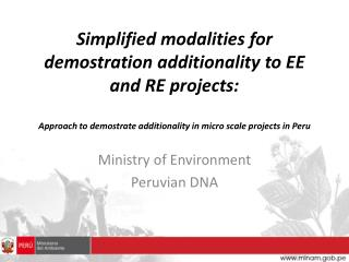 Ministry  of  Environment Peruvian  DNA