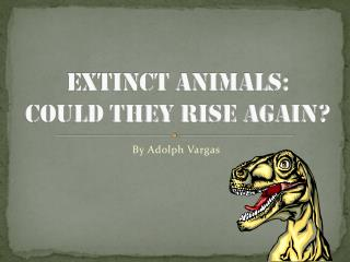 Extinct Animals:  could they rise again?