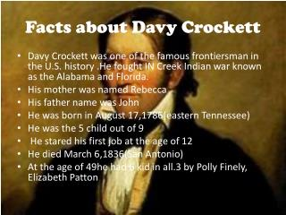Facts about Davy Crockett