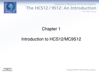 Chapter 1  Introduction to HCS12