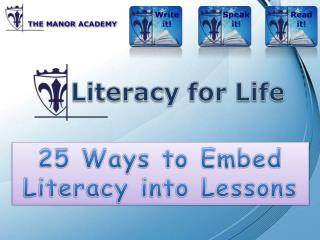 25 Ways to Embed Literacy into Lessons