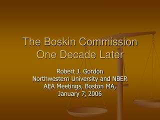 The Boskin Commission One Decade Later