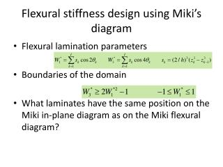 Flexural stiffness design using Miki's diagram