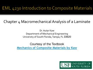 EML 4230 Introduction to  Composite Materials