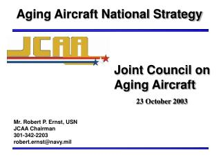 Aging Aircraft National Strategy