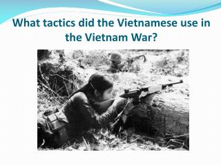 What tactics did the Vietnamese use in the Vietnam War?