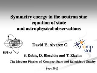 Symmetry energy in the neutron star equation of state and  astrophysical  observations