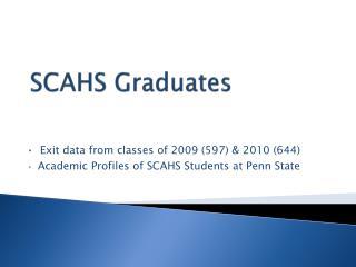 SCAHS Graduates