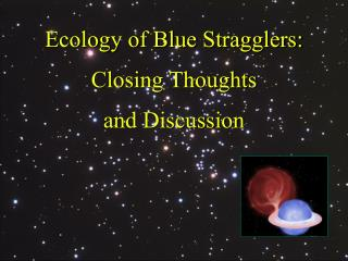 Ecology of Blue Stragglers: Closing Thoughts and Discussion