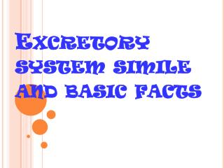 Excretory system simile and basic facts