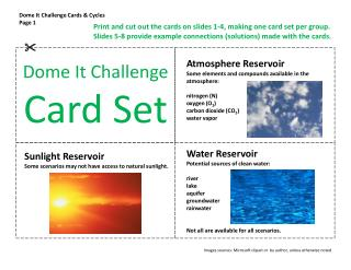 Dome It Challenge Cards & Cycles Page 1
