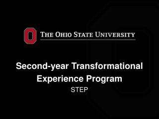 Second-year Transformational Experience Program STEP