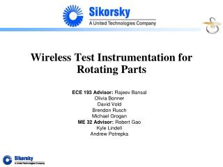 Wireless Test Instrumentation for Rotating Parts