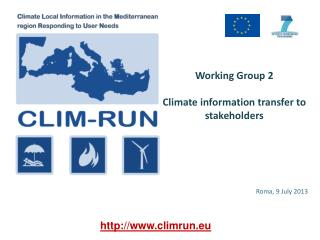 Working  Group 2 Climate  information  transfer  to  stakeholders