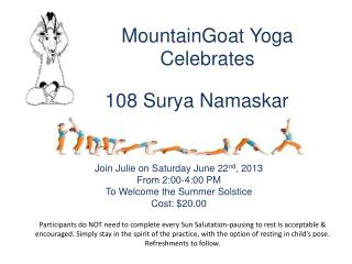 MountainGoat Yoga Celebrates