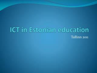 ICT  in Estonian education