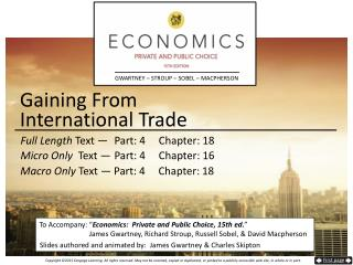 Gaining From  International Trade