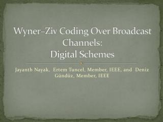 Wyner–Ziv  Coding Over Broadcast Channels: Digital Schemes