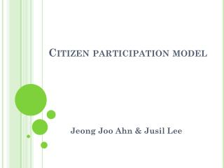Citizen participation model